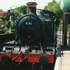 Resident 4141 at North Weald on 08/06/14 taking water prior to working the 14 00 departure for Ongar.