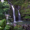 The 3 Bears Waterfall, Road to Hana, Maui, Hawaii