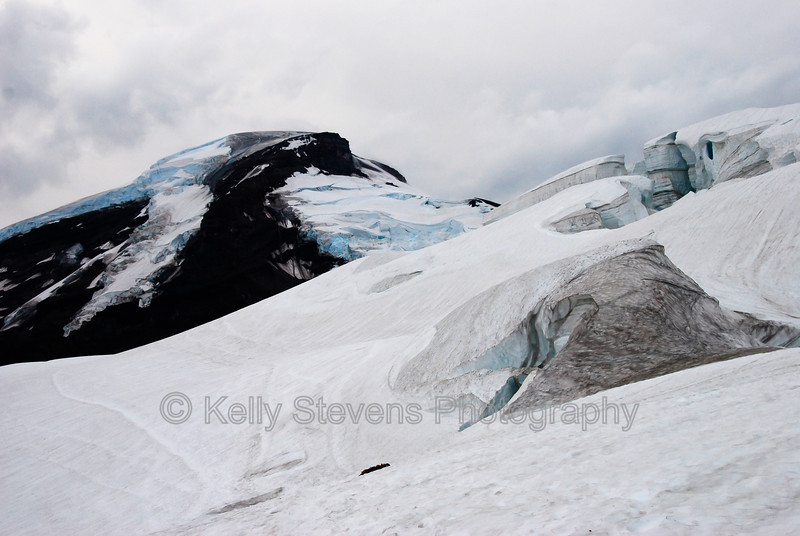 Coleman Glacier on Mount Baker, Washington.