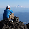 Mount Hood from Mount Adams, Washington.