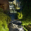 This is a view of the waterfall as it drops down and runs under the aforementioned walkway.