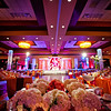 decorated ballroom for an Indian wedding reception
