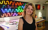 Neon artist Eve Hoyt at in her home studio in Glenside.   Monday,  July 7, 2014.   Photo by Geoff Patton
