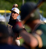 Hatfield pitcher Dylan Borawski ,19, delivers to a Nor Gwyn batter during their contest at Hostelley Field on  Friday July 11,2014.Photo by Mark C Psoras/The Reporter