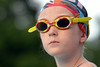 Hatfield swimmer Lily Loughran waits for start of 10 and under breast stroke at meet against Pennridge.   Thursday,  July 10, 2014.   Photo by Geoff Patton