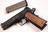 S&W 1911PD - Commander length 'Scandium' frame .45 ACP, ball milled Micarta grips
