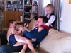Fraser came to visit, the boys showed how thrilled they were by mercilessly mauling him