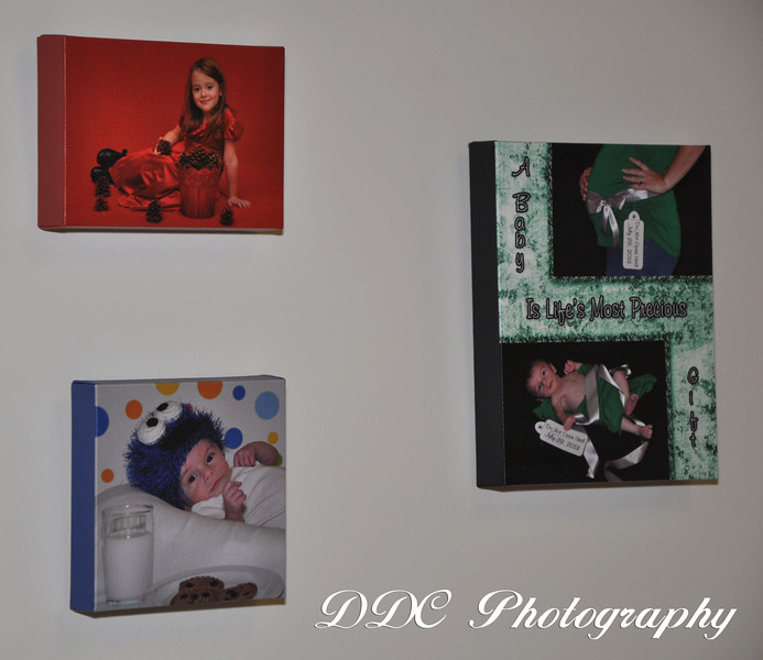 "Canvas Gallery Wraps available in a variety of sizes, ranging from 5""x7"" to 24""x30"". You choose between either having the photo wrap around the edges or having a solid color border on the edges. The solid color border can be any color, and it can even be customized to match a color in your portrait."