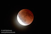 The moon starting to exit total eclipse (4/15/2014) EF400mm f/5.6L USM +2x III @ 800mm f11 1/6s ISO6400