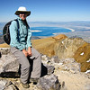 Me on the summit of Mt. Dana with Mono Lake in the background.
