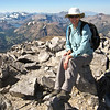 Me on the summit of Mt. Dana with Tuolumne in the background.