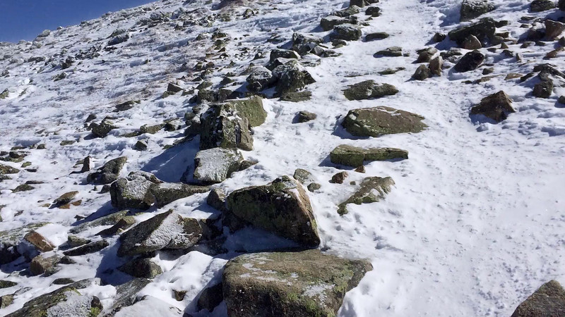 Video of the trail during the final approach to the summit. Windy!