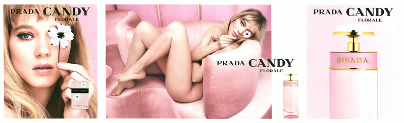 PRADA Candy Florale 2014 Germany 4 pages (2 resto-verso) with scented sticker)