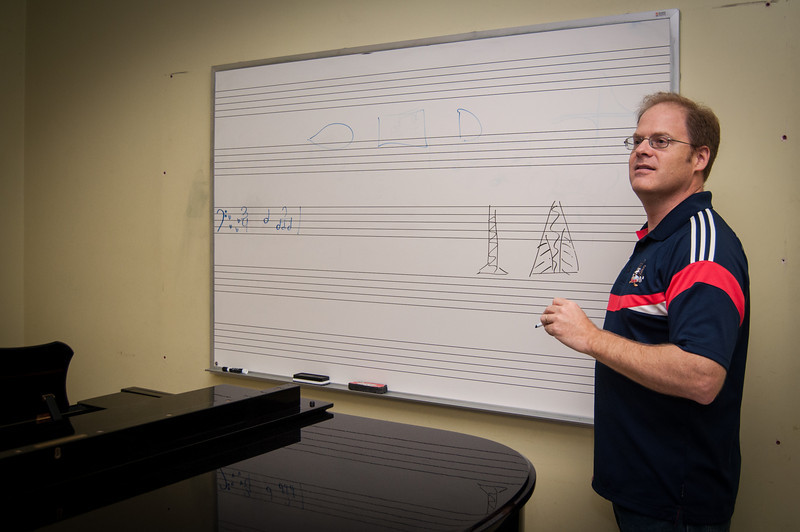 Joe Skillen teaches a master class at the 2012 LSU Honors Chamber Wind Camp at Louisiana State University's College of Music & Dramatic Arts.
