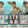 2012 Topps Triple Threads Babe Ruth, Lou Gehrig & Mickey Mantle