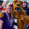Sara Leary with the Nittany Lion at THON 2014