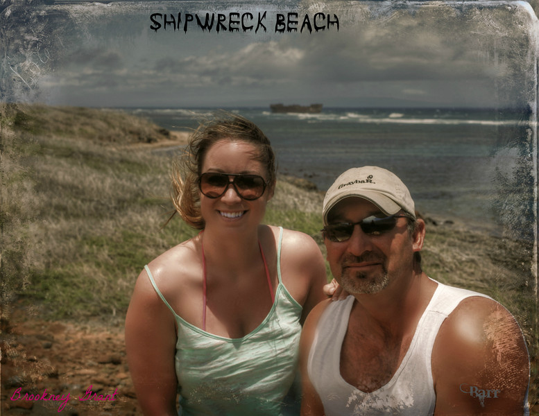 April 22 2013 Brookney and i at shipwreck beach, On the island of Lana'i