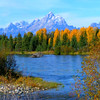 Snake River at Mouth of Buffalo Creek, Grand Teton National Park. Fall 2007