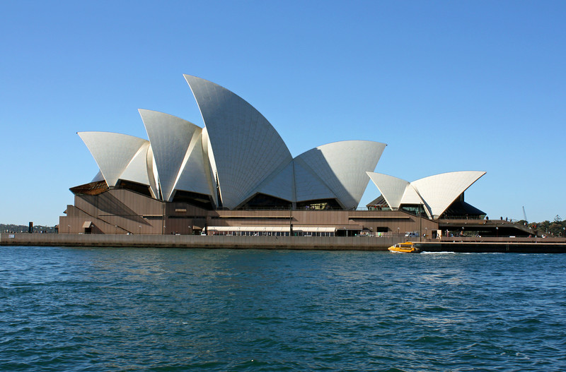 Sydney Opera House with Ferry Boat