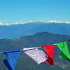 Prayer Flags By the Himalayas