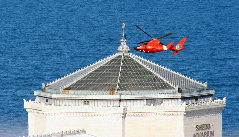 Helicopter by the Shedd Aquarium
