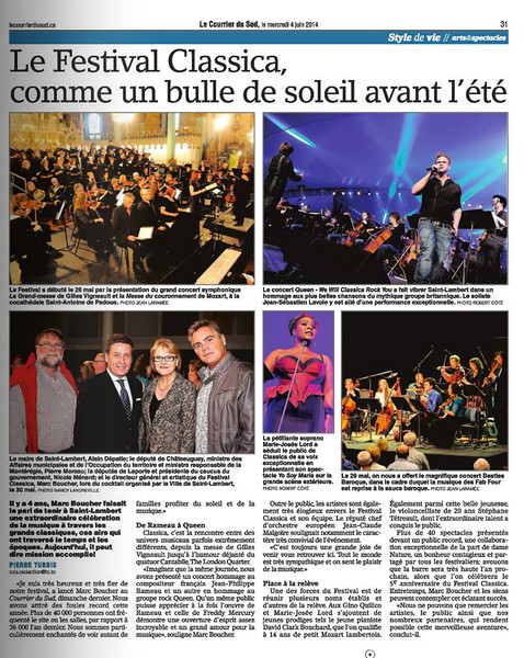 Publication_Courrier du Sud_Festival Classica 2014