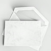 Blank stationery: card and envelope