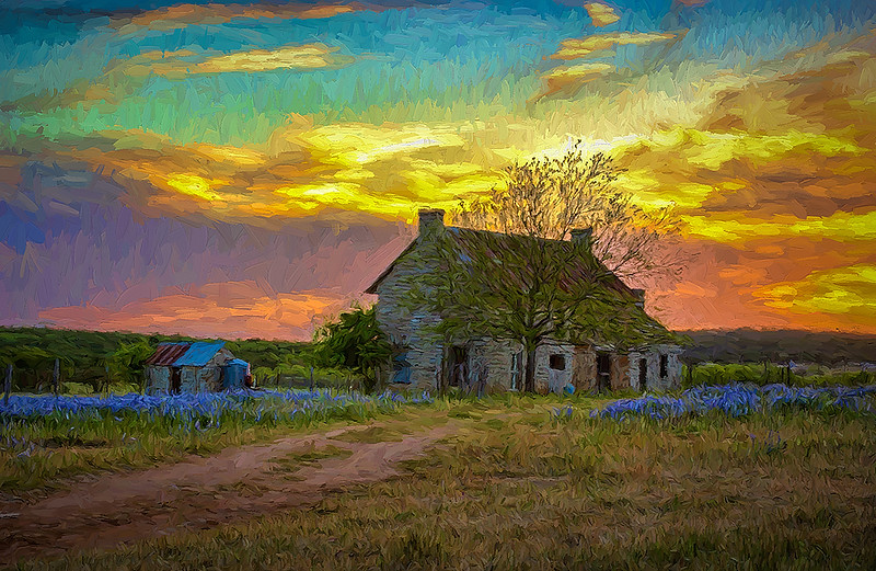 7 Old House at Sunset