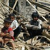 Children after the earthquake, Gujarat 2001