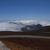 View from the Haleakala National Park visitor center - Hawaii