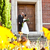 Formal portrait of a bride and groom at Davenport House London