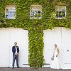 Formal portrait of a bride and groom at Northbrook Park in Farnham