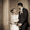 Reportage shot of bride and groom at Nonsuch Mansion in Cheam