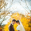 Formal portrait of a bride and groom at Redstone Cemetery, Redhill