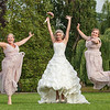 A fun group shot of the bride and her bridesmaids
