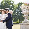 Natural reaction and smiles from a bride and groom at Nonsuch Mansion, Cheam