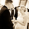Bride gasps with joy when saying her wedding vowels