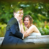 Amazing laughter by a bride and her groom whilst having their portrait taken