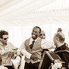 Guests thoroughly enjoying themselves during the wedding reception at Ravens Ait Island