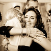 A big hug for a bride and one of her close friends