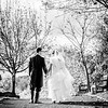 Bride and groom take a walk in their wellies on a glorious autumn day