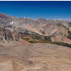 View NW towards Montezuma Basin from summit of Pearl Pass (9/5/1998).