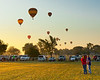 36th Annual Huff 'n Puff Balloon Rally 3 of 4<br /> Morning launch and evening glow/tether at 2011 Huff 'n Puff Hot Air Balloon Rally in Topeka, Kan.<br /> Rick McPherson<br /> <br /> Honorable Mention - Photojournalism