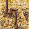 """Rusty Pipe"" - Brewster Co. Consoladated Mercury Mine, Stude Butte, TX"
