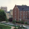 A view of Caldwell and Ketler Halls from Lincoln Hall