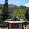 A Japanese tea house at the Heritage Gardens of Kepaniwai Park, Iao Valley, western Maui.