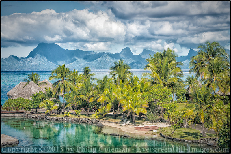 View of Tahiti and Moorea