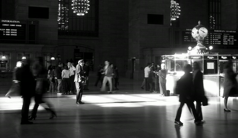 The Scream, NYC - Grand Central in Black and White