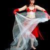 Belly Dancer - Red suit - tule scrim to play with