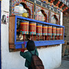 Girl with Prayer Wheels